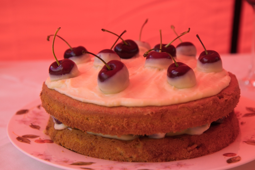 Cherry and White Chocolate Cake